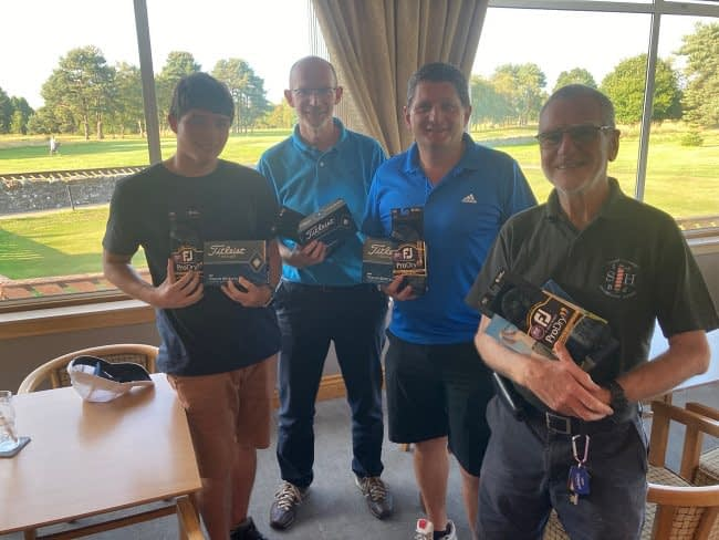 runners up lgms golf day Falkirk tryst